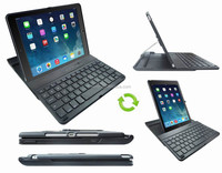Slide Out Bluetooth Keyboard With Rotating Hard Case For iPad Air 2 Bluetooth Keyboard For iPad With Rotating Plastic Back Case