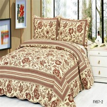 2015 Newly floral design soft 100% cotton reactive printed brand bed cover