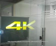 Posterior olográfica Cine Proyección,Auto-adhesivo de las láminas para ventanas,Transparente película retroproyección
