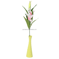Brand New Artificial Fake Light Pink Lily Flowers Plants Bouquet Home Wedding Decoration Beautiful Design