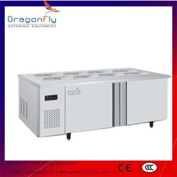 Under Counter Side by Side Commercial Salad Refrigerator for Sale