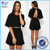 online shopping women tops and shorts in black 2 pieces set for fashion women