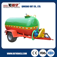 Low-cost small water tank trailer for agricultural use