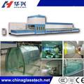 Alta eficiencia plana y vidrio doblado vidrio templado maquinaria