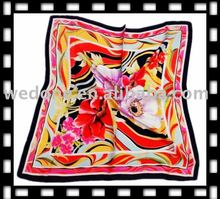 Pure silk satin scarf