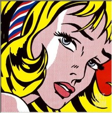 Girl With Hair Ribbon Roy Lichtenstein Diy Oil Painting By numbers NST4