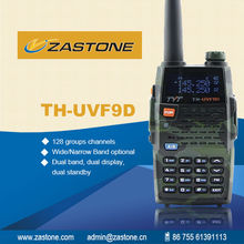 Channel name display and setting TYT THUVF9D dual band uhf&vhf 2-way walkie talkie 128*2 groups channels storage