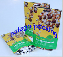 stand up plastic food grade nuts package bag,snacks plastic packaging bag,nuts packaging bag