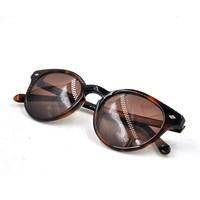 Tortoise round frame metal studs sunglasses, 2015 hot sale sun glasses