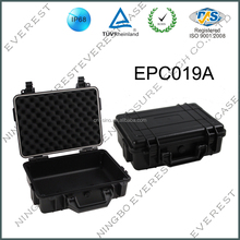 Hard ABS plastic waterproof tool case with handle and wheels