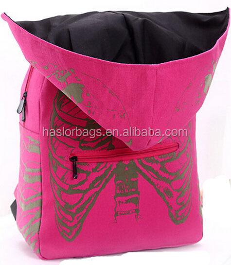 2015 nouveau Design de mode sac à dos femmes avec Cap