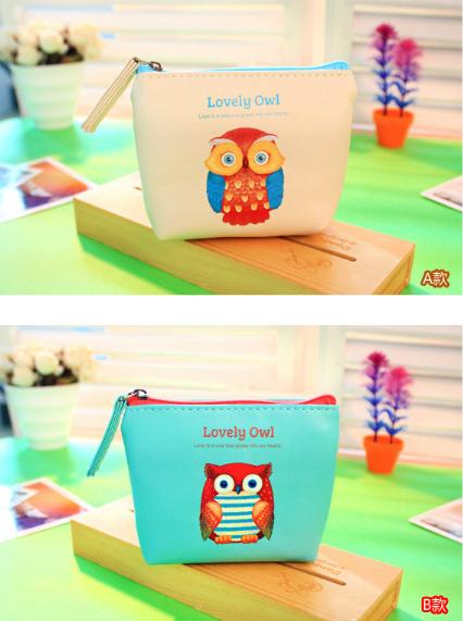 2014 New Korea Style Canvas Square Cute Cartoon Purse / Coin Bag /