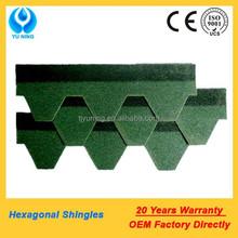 hexagonal shingle roof green