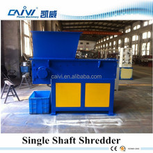 waste plastic used rubber tires recycling machines/plastic shredder machine single shaft