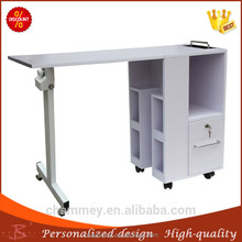 sufficient supply wooden new design high quality nail manicure table,wood pink beauty manicure desk