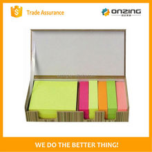 Onzing new sticky notes in leather box for office