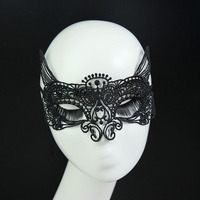MJ19 Oxytropis unshaped black lace mask dance party mask Halloween performances make hollow
