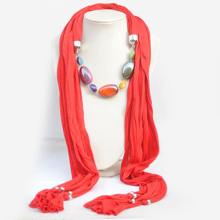 pretty encanto bufanda decorada con perlas de colores de joyera bufanda de joyas