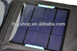 Flexible Foldable solar charger bag for ipad , 18w solar power charger bag for cell phone ,outdoor bag with solar charger