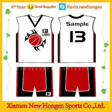 Durable best selling newest basketball practice jersey/short