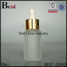30ml frosted serum bottle, antique aromatherapy body essential oil bottle, silk printing service, OEM