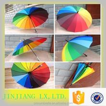 Big SizeRainbow Color Umbrella, Outdoor Folding Golf Umbrella