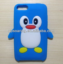 for Apple iPod Touch 3 lovely 3D penguin silicone cover case