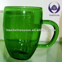 borosilicate handmade colorglass real cup coffee in China