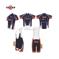 Jersey and bib shorts Professional OEM cycling jersey Pads made in china