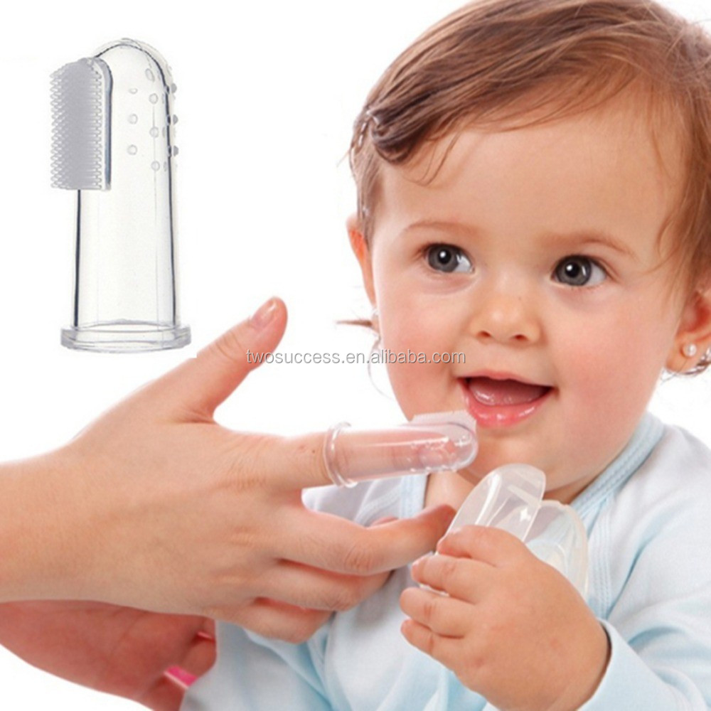baby product Eco-friendly silicone baby finger toothbrush (2)