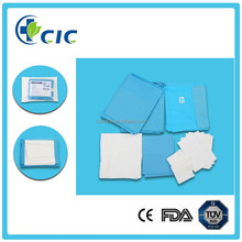 The directly price from factory ETO Serlie hospital use Disposable nonwoven blue surgical drape Delivery pack