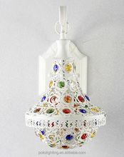 Mosque headboard tiffany read wall lamp with Colored Glass