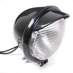 Universal Motorcycle Motorbike 25LED Headlight Black Case For Harley Chopper Bobber Custom