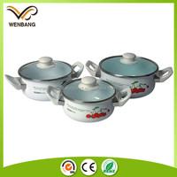 logo printing custom high quality two handle saucepan