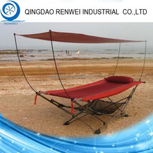 Steel Folding Hammock Stand with Canopy/Outdoor Hammock Stand