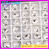 Heart shaped rhinestone Glass pointed back rhinestones crystal clear color Fancy Stone