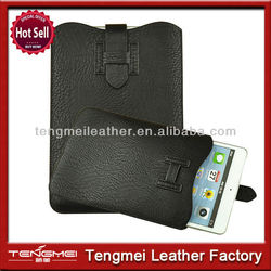 Black pu leather tablet sleeve case pouch for ipad mini hot case