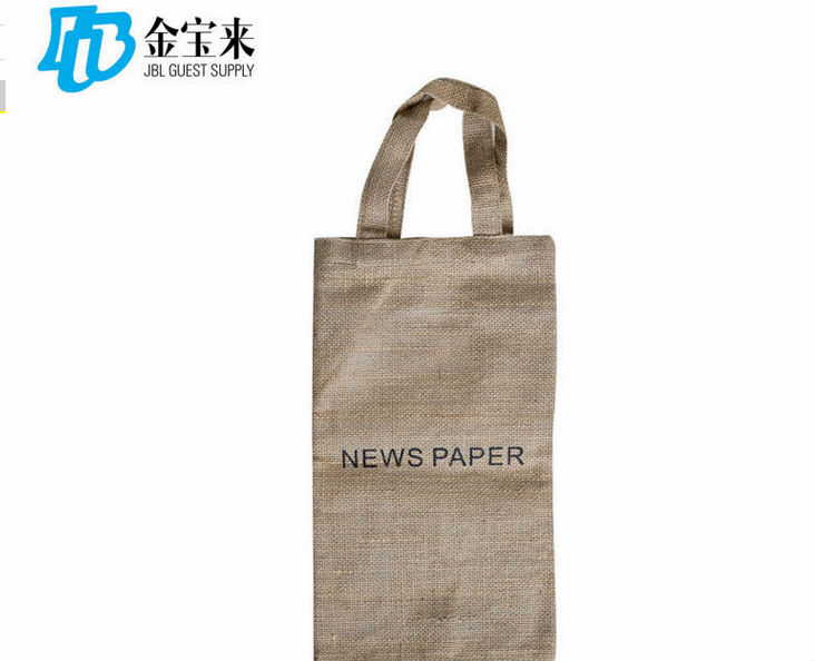 innovative design disposable hotel jute news bag
