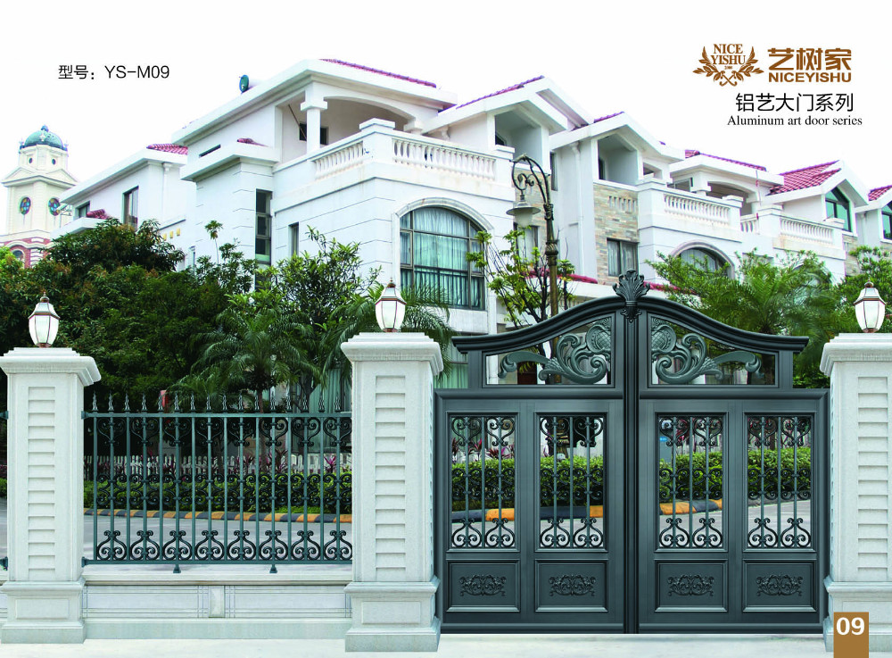 Indoor iron gate decorative cast aluminum indoor garden for Indoor gate design