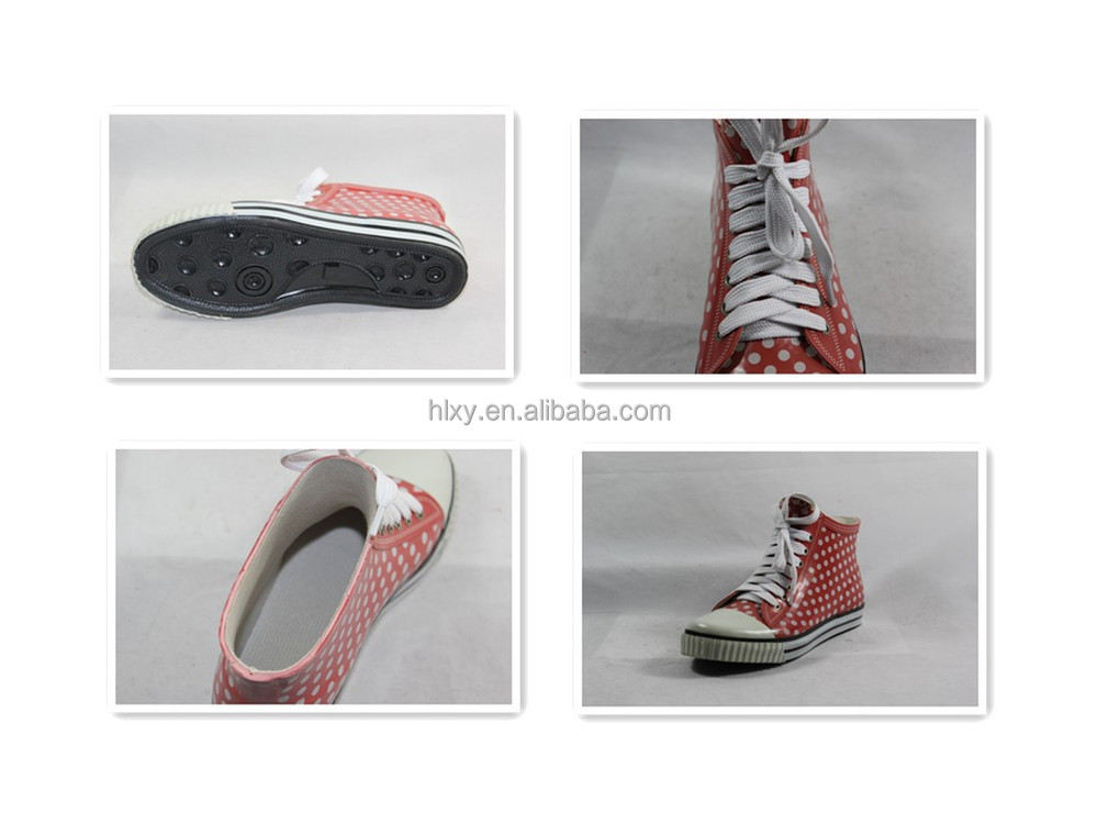 нч дождя ботинки с белыми кружевами