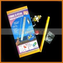 Mini Fishing Rod Pen Shape Portable Pocket Aluminum Alloy Fishing Pen with Reel