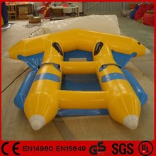 Wholesale 4-6 person water banana boat inflatable flying fish toy