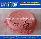 várias cores de pó de pigmento