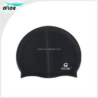 Silicone swimming cap for long hair/swim caps print/funny silicone swimming cap