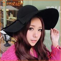 Fashion Women Wool Felt Wide Brim Floppy Hat
