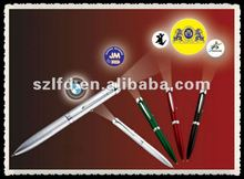 ColorfuL Light projector Pen Wih Logo Led Pen lamp to promotion and advertising
