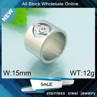 New arrival high quality jewelry female carving stainless steel ring