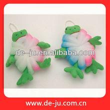 promozione bagno animale rana maglia giocattoli colorato bambini giocattoli spugna