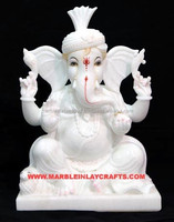 White Makrana Marble Indian God Lord Ganesha Idols