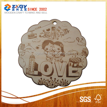 Laser cutting kinds of wood pieces, miniature unfinished wood pieces